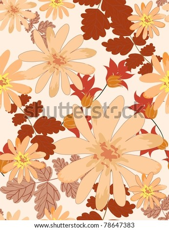 Beautiful vector a seamless pattern floral
