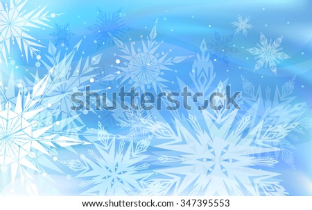 Beautiful vector background with snowflakes, Happy New Year.