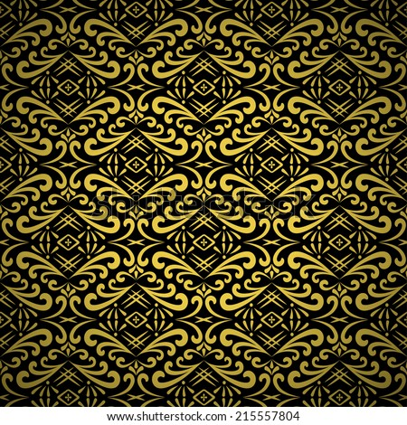 Beautiful vector damask baroque seamless pattern background for wallpaper design