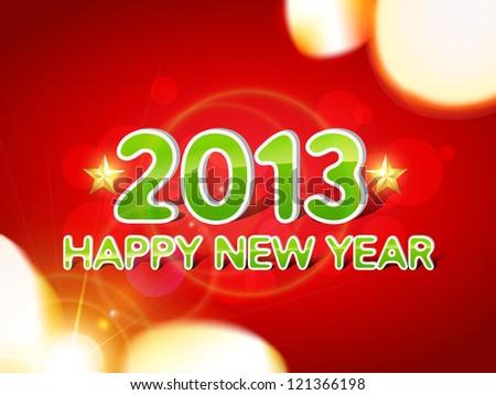 beautiful vector happy new year design - stock vector