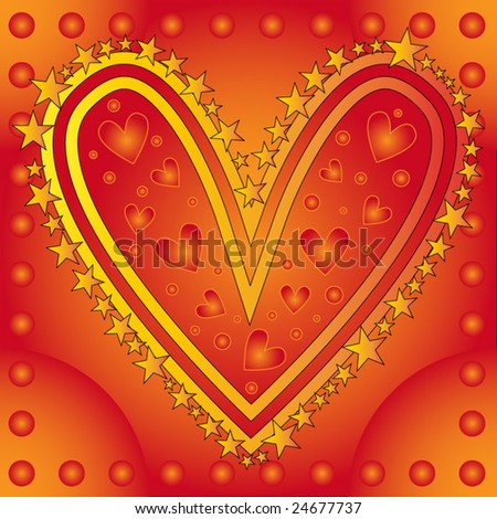 Beautiful Vector Heart Background