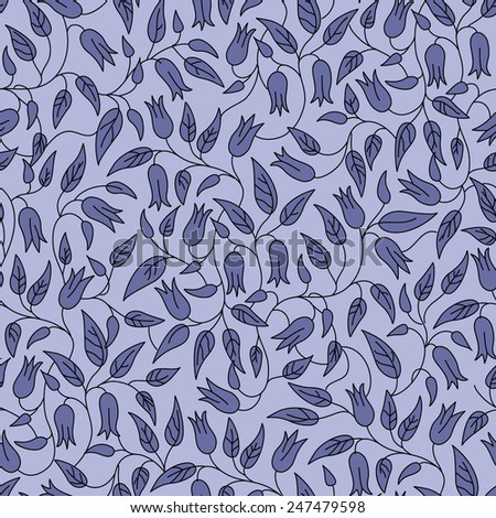 Beautiful vector seamless floral  pattern. - stock vector