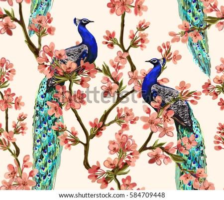 Black dress with peacock design wallpaper