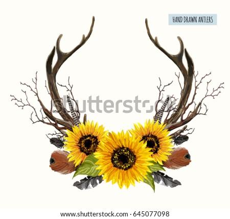 antlers stock images  royalty free images   vectors Logo with Deer On It Deer Skull Logo