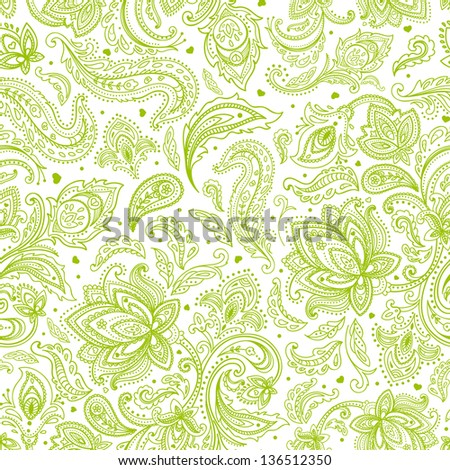 Beautiful vintage floral ornament can be used as a greeting card - stock vector
