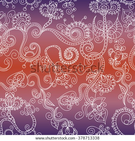 Beautiful vintage floral seamless for your business. Seamless vector paisley pattern. Ttraditional ethnic elements. Asian motifs for fashion, interior, cover, textile, wrapping, scrapbook, background