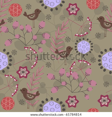 Beautiful vintage floral seamless pattern - vector illustration