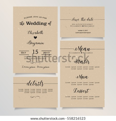 Beautiful vintage wedding invitation card details stock vector beautiful vintage wedding invitation card details card save the date card menu card stopboris Choice Image