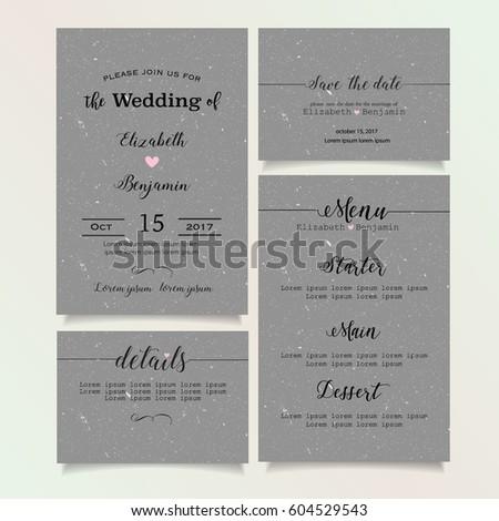 Beautiful vintage wedding invitation card details stock vector hd beautiful vintage wedding invitation card details card save the date card menu card stopboris Images
