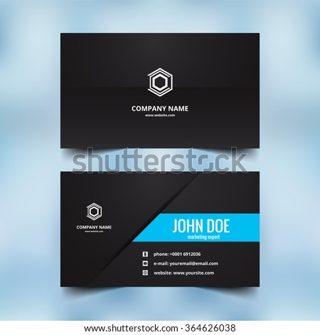 Beautiful visiting card design vector - stock vector