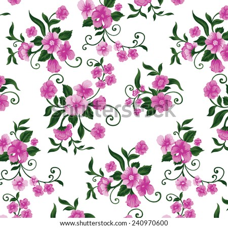 Beautiful wallpapers, beautiful bouquet of pink flowers. - stock vector
