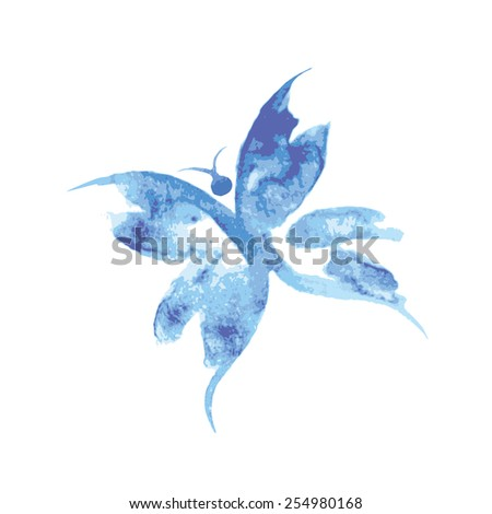 Beautiful watercolor butterfly background. Vector illustration - stock vector
