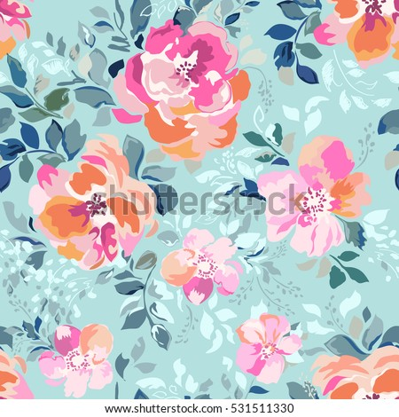 beautiful watercolor roses bright painting inspired flower print seamless background