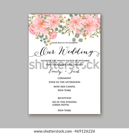 Beautiful wedding floral vector invitation sample stock vector beautiful wedding floral vector invitation sample card design frame template rose daisy stopboris Image collections