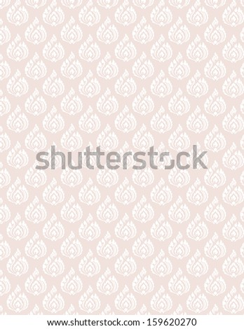 beautiful white pattern seem floral, fern, leaves, lotus and fire pattern on pink background for page and ground-paper - stock vector