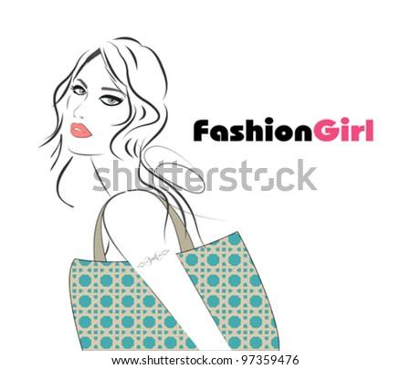 Beautiful woman - stock vector