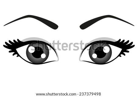 beautiful woman eyes  - stock vector