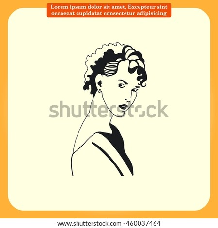 Beautiful woman. Female  Fashionable Vector illustration