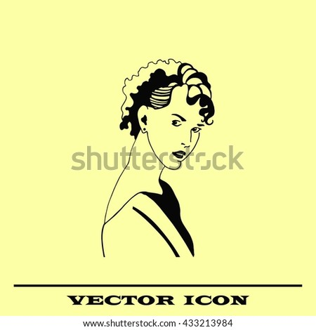 Beautiful woman. Female silhouette. Fashionable. Glamour. Vector illustration