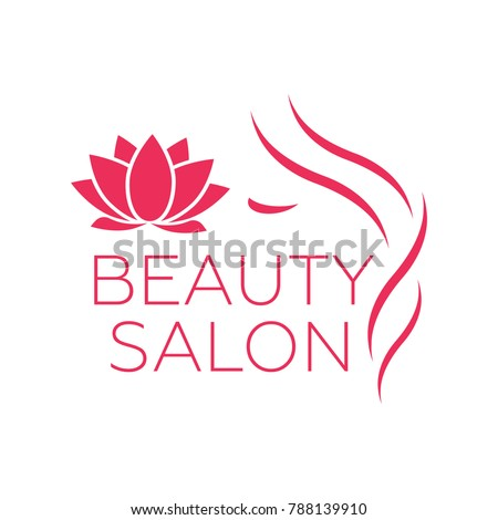 Beautiful woman logo template for hair salon, beauty salon, cosmetic
