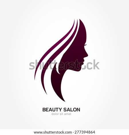 Woman Profile Logo Beautiful Woman's Profile Face