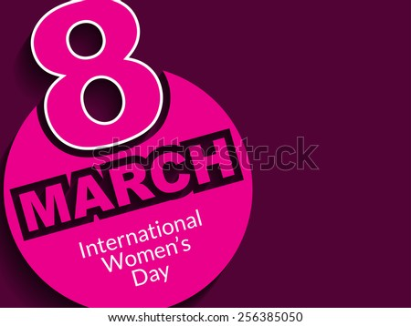 Beautiful Women's day background design. - stock vector