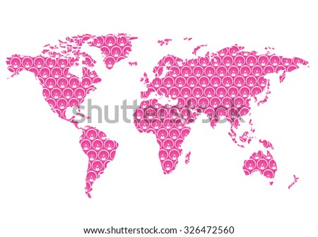 Beautiful world map floral pattern wall stock vector 326472560 beautiful world map with floral pattern wall stickereasy to change colors gumiabroncs Gallery