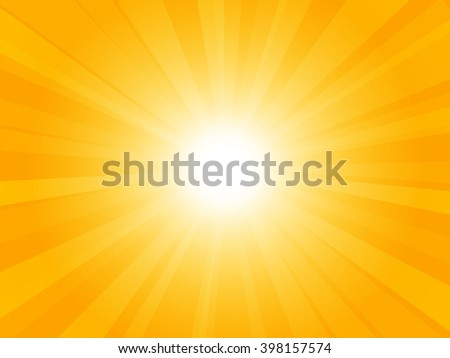 Beautiful yellow background with rays