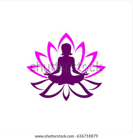 Beautiful yoga pose lotus flower stock vector 636718879 shutterstock beautiful yoga pose in lotus flower mightylinksfo