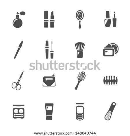 Beauty and makeup icons - stock vector