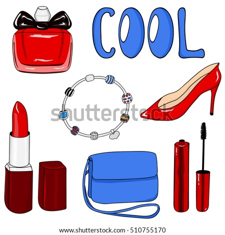 beauty clipart set cool perfume womens stock vector royalty free