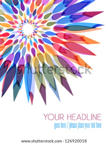 beauty concept flower background - stock vector
