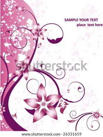 Beauty floral card