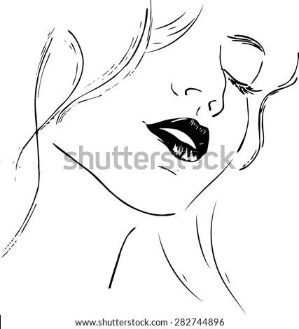 Beauty Girl Face Abstract Woman Vector