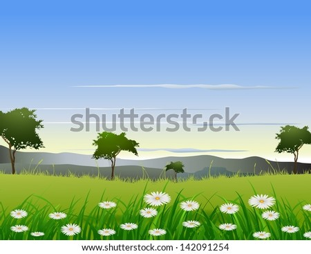 beauty nature background - stock vector