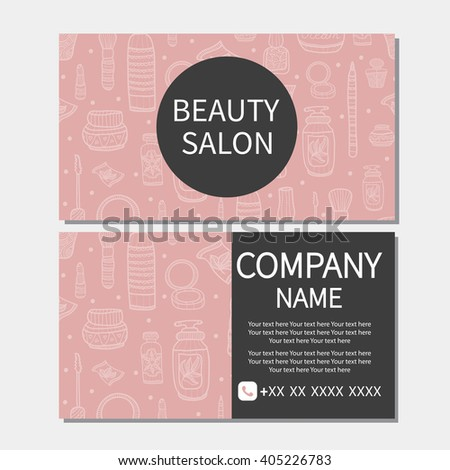 Beauty salon beauty makeup care cute stock vector 405226783 beauty makeup care cute design of business cards for beauty reheart Choice Image