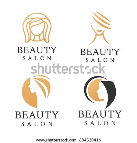 Beauty salon logo set hair salon stock vector 684320416 shutterstock beauty salon logo set hair salon cosmetic boutique luxury elegant line icon altavistaventures Images