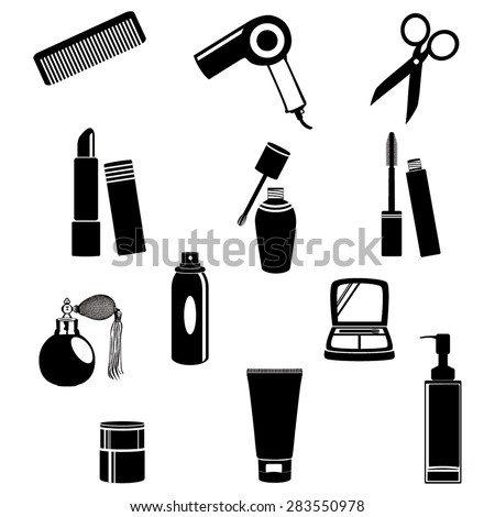 Beauty salon objects vector