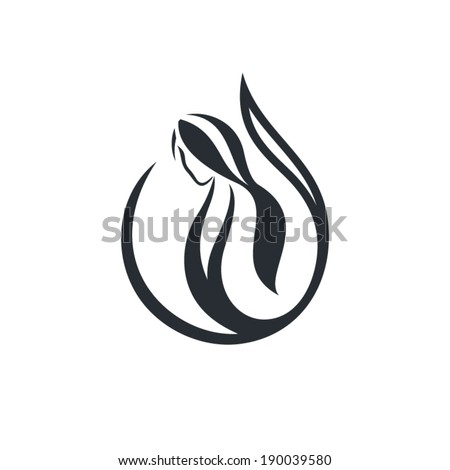 Beauty salon sign Branding Identity Corporate vector logo design template Isolated on a white background - stock vector