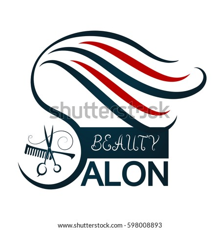 Beauty Salon Symbol Business Scissors Comb Stock Photo Photo