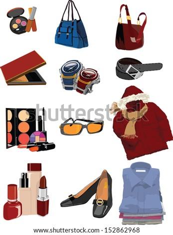 beauty stuff illustration/vector  - stock vector