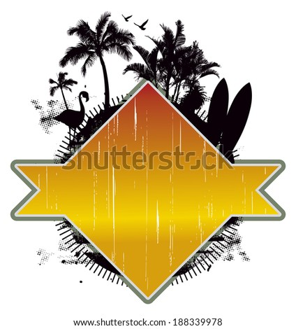 beauty vintage summer scene - stock vector