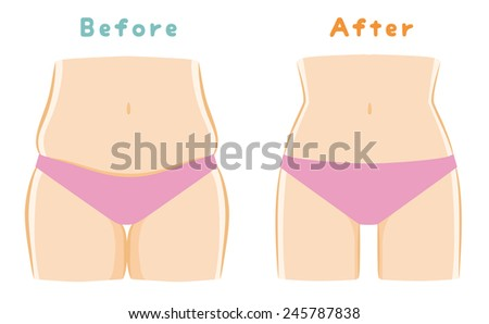 Beauty, waist, thigh - stock vector