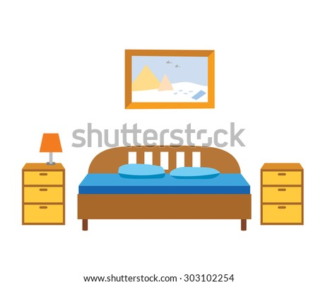 Bedroom cartoons stock images royalty free images vectors shutterstock - Image bed room ...