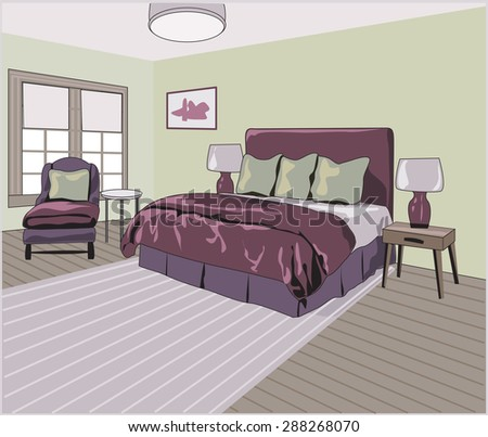 Bedroom with side table and chair