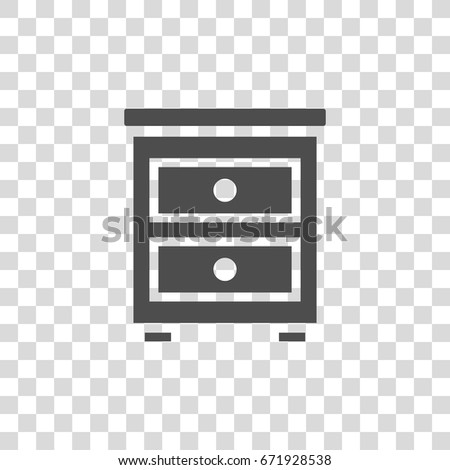 bedside table vector icon