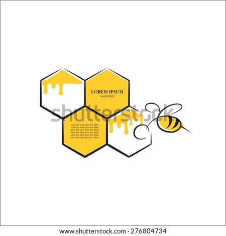 Bee comb - stock vector