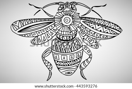 91 Drone Bee Coloring Page