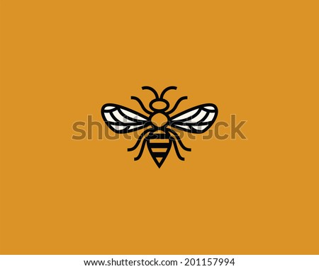 Bee icon. - stock vector