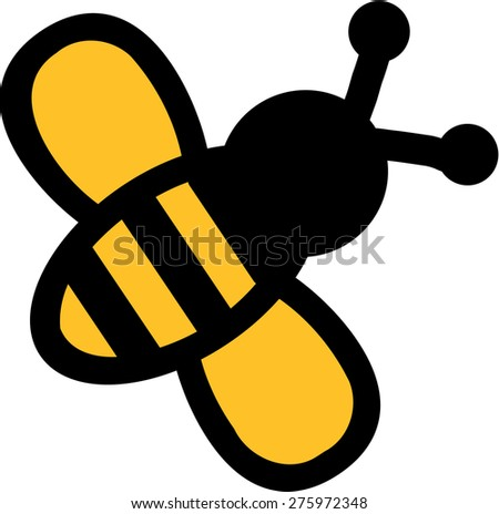 real silhouette bee stock vector 275972282 shutterstock Vintage Flower Vector Vintage Queen Bee Vector